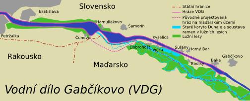 Vodní dílo Gabčíkovo.