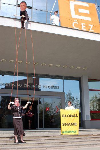 Akce Greenpeace před MŽP