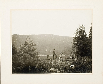 Jindřich Eckert: Čertovo jezero ze souboru Upomínka na Šumavu, 1880-82
