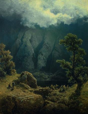 Charlotta Piepenhagenová: Horské jezírko (80. léta 19. století)