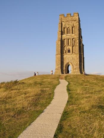 Glastonbury Tor v jižní Anglii