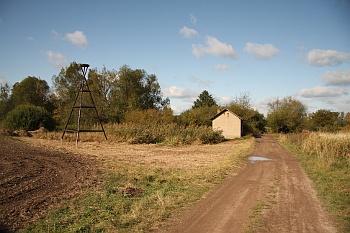 Vstup do ornitologického parku Josefovské louky