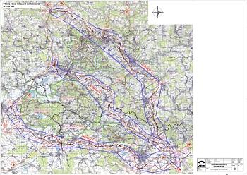 Podrobné zakreslení možných koridorů R35 mezi Úlibicemi a Libercem