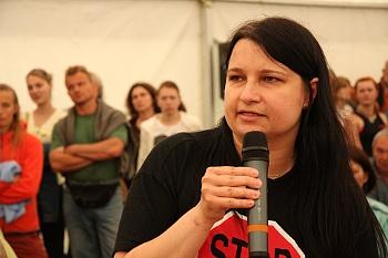 Martina Kovaříková z koalice občanských sdružení S.O.S. Český ráj