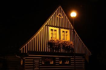 Světelné znečištění v Harrachově