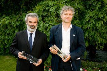 Laureáti Ceny Josefa Vavrouška za rok 2009 , Vladimír Buřt a Raymond Aendekerk (získal cenu společně se svou manželkou Adri van Westerop - in memoriam)