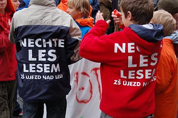 Demonstarce za Klánovický les.