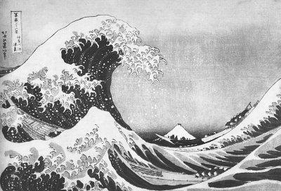 Vlna. Z cyklu 36 pohledů na horu Fudži, kolem roku 1830