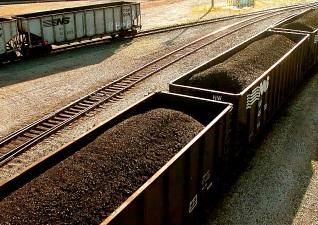 Vagóny uhlí