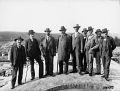 W. H. Lindley se svými spolupracovníky na staveništi bubenečské čístírny, 29. 5. 1903