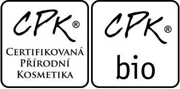 Logo značky Certifikovaná přírodní kosmetika a Certifikovaná přírodní kosmetika s biosurovinami