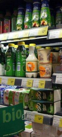 Bioprodukty v supermarketu