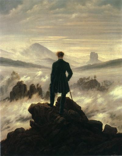 Caspar David Friedrich: Poutník nad mořem mlh.